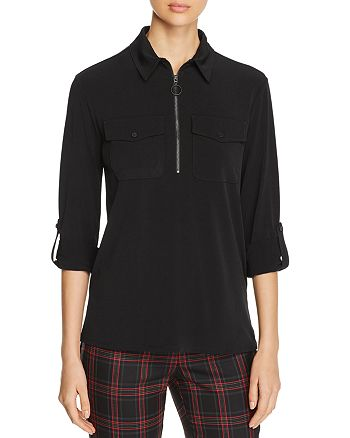 Kenneth Cole - Zip-Front Top