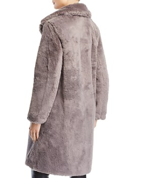FRENCH CONNECTION - Annie Double-Breasted Faux-Fur Coat