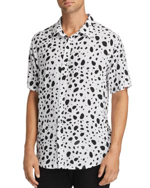 NANA JUDY Nana Judy X Disney Verve Short-Sleeve Dalmatian-Print Regular Fit Shirt in White