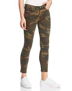 BLANKNYC - Camouflage High-Rise Skinny Jeans in Scout