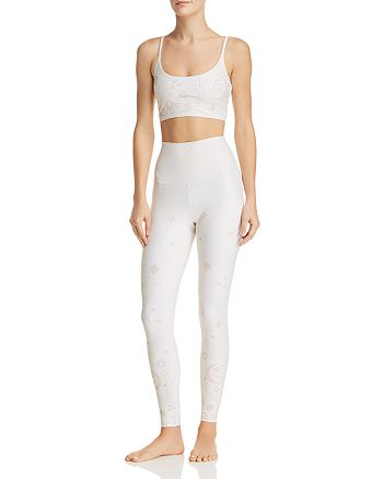 Beach Riot - Weslie Embellished Cropped Top & Lunar Leggings
