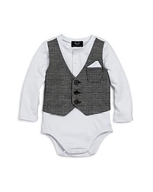 Bardot Junior Boys Bodysuit with Plaid Vest  Baby