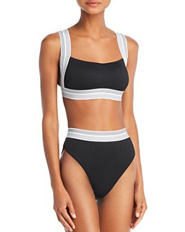 Dolce Vita - Fast Lane Ribbed Bikini Top & Fast Lane Ribbed High Waist Bikini Bottom