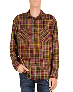 The Kooples - Checked & Distressed Regular Fit Button-Down Shirt