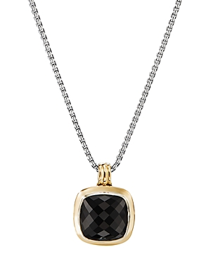David Yurman ALBION PENDANT WITH 18K YELLOW GOLD & BLACK ONYX