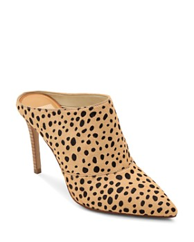 Dolce Vita - Women's Cinda High-Heeled Calf Hair Mules