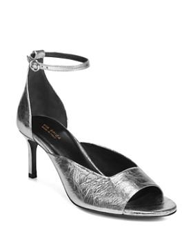 Via Spiga - Women's Jennie Metallic Kitten Heel Sandals