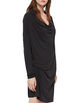 cd820ead1 ALLSAINTS - Amei Draped Shift Dress ...
