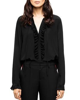 Zadig & Voltaire - Ruffled Silk Shirt