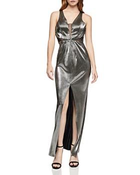 BCBGeneration - Metallic Plissé Maxi Dress