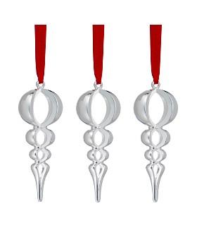 Nambé - Mini Spire Ornaments, Set of 3