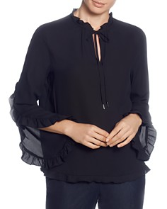 T Tahari - Ruffle-Trim Top