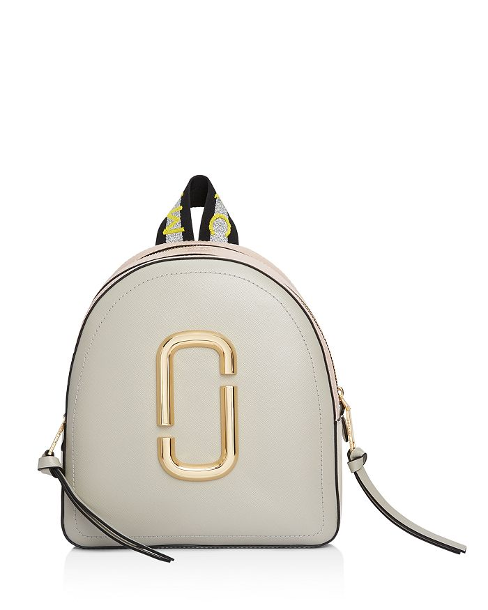 MARC JACOBS - Pack Shot Color Block Leather Backpack