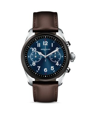MONTBLANC Summit 2 Smartwatch, 42Mm in Bicolor Steel/Leather