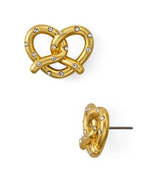 kate spade new york Pave Pretzel Stud Earrings