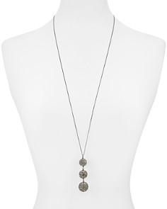 "kate spade new york - Triple Pavé Sphere Pendant Necklace, 32"""