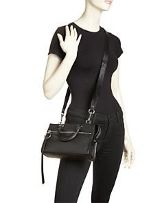 Rebecca Minkoff - Bedford Micro Leather Zip Satchel