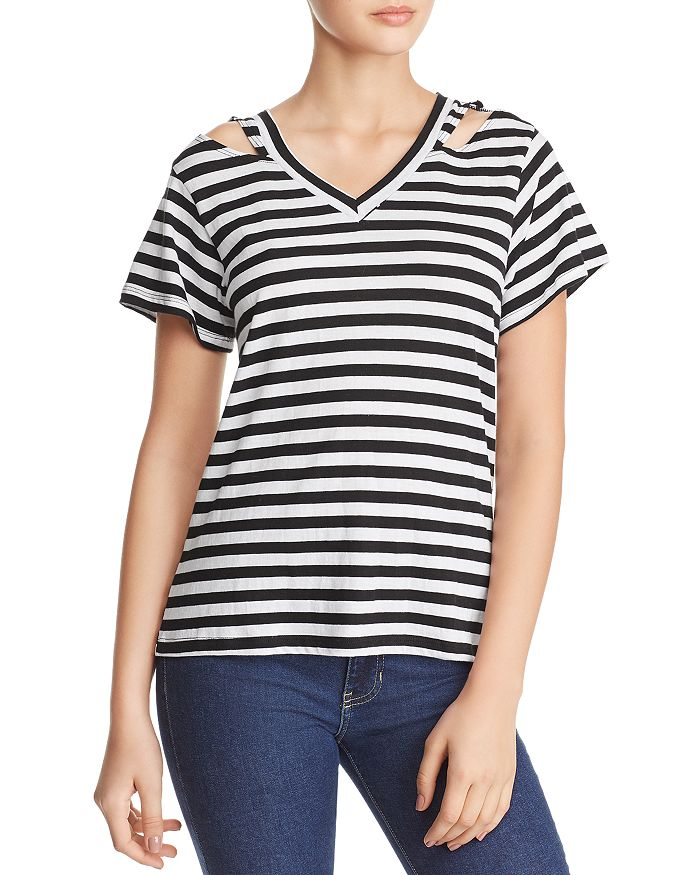 30d39ebd29 LNA Iceland Cutout Striped Tee | Bloomingdale's