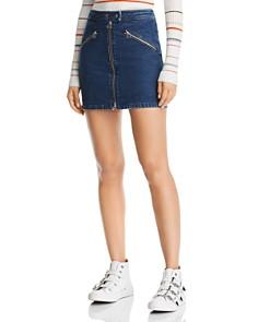 rag & bone/JEAN - Racer Denim Mini Skirt