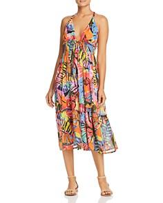 Ralph Lauren - Batik Floral Print Midi Dress Swim Cover-Up