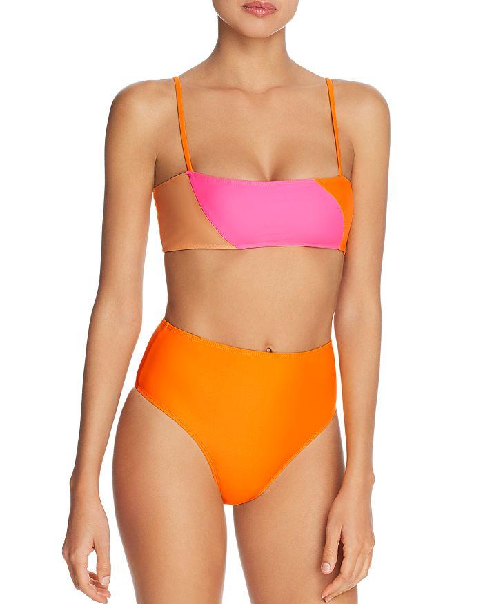 Ellejay - Lauren Bandeau Bikini Top & Carolyn Bikini Bottom