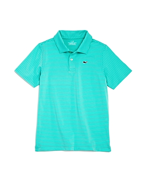 Vineyard Vines Boys Wilson Striped Performance Polo  Little Kid Big Kid