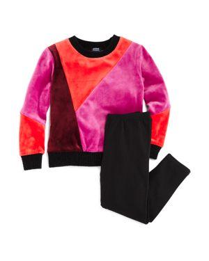 Splendid x Margherita Girls' Velvet Color-Block Sweater & Leggings Set - Little Kid