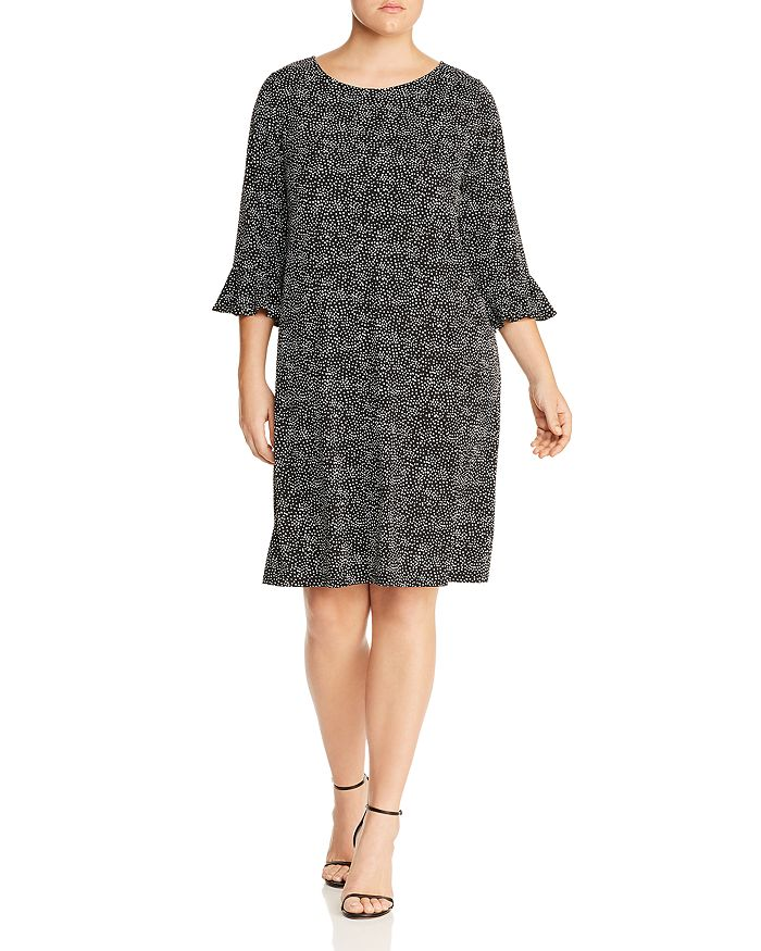 6a408b84454 Leota Plus - Blake Printed Bell-Sleeve Dress