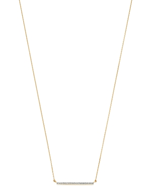 Adina Reyter 14K Yellow Gold Large Pave Diamond Bar Necklace, 16