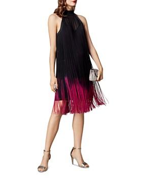 KAREN MILLEN - Dip-Dye Fringed Shift Dress