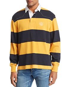 rag & bone - Striped Long-Sleeve Rugby Polo Shirt