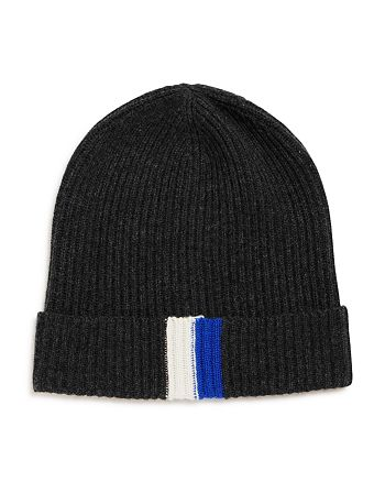 The Men's Store at Bloomingdale's - Stripe-Trimmed Rib-Knit Hat - 100% Exclusive