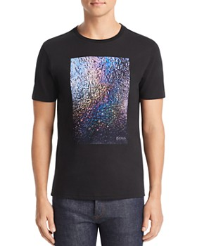 BOSS - Teyne Flocked Abstract Graphic Tee