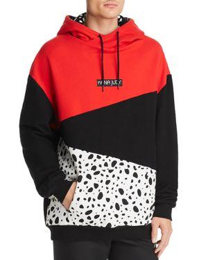 NANA JUDY Nana Judy X Disney Dalmatian Color-Block Hooded Sweatshirt in Black/White/Red