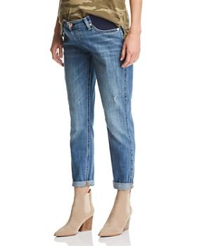 7 For All Mankind - Maternity Josefina Boyfriend Jeans in Blue
