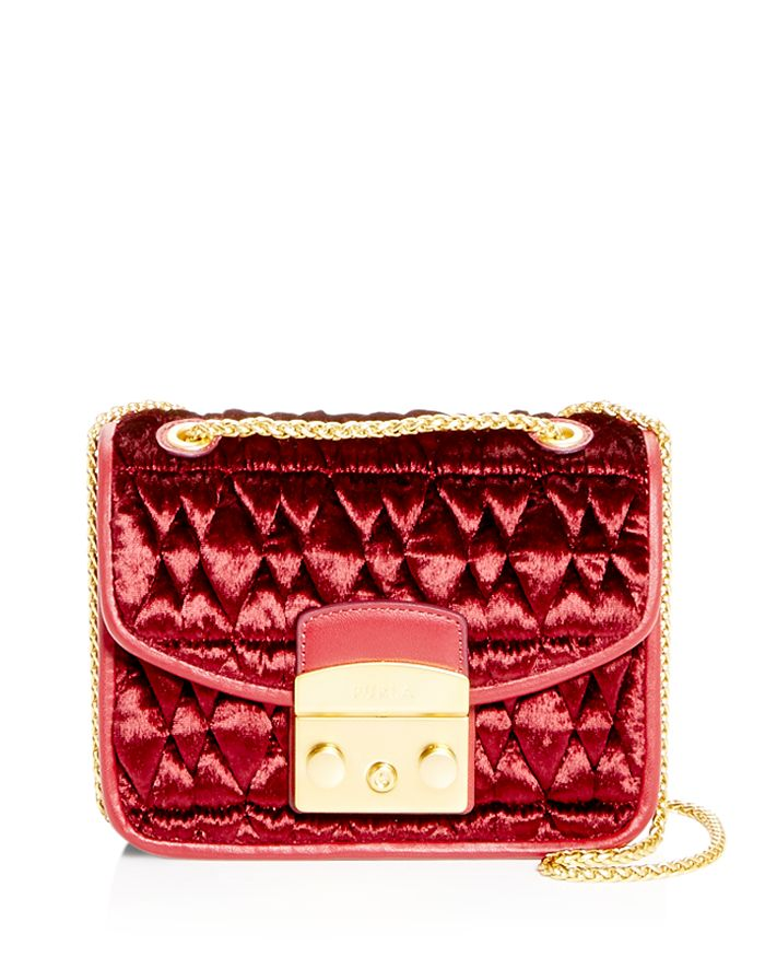 Furla - Metropolis Mini Quilted Velvet Crossbody