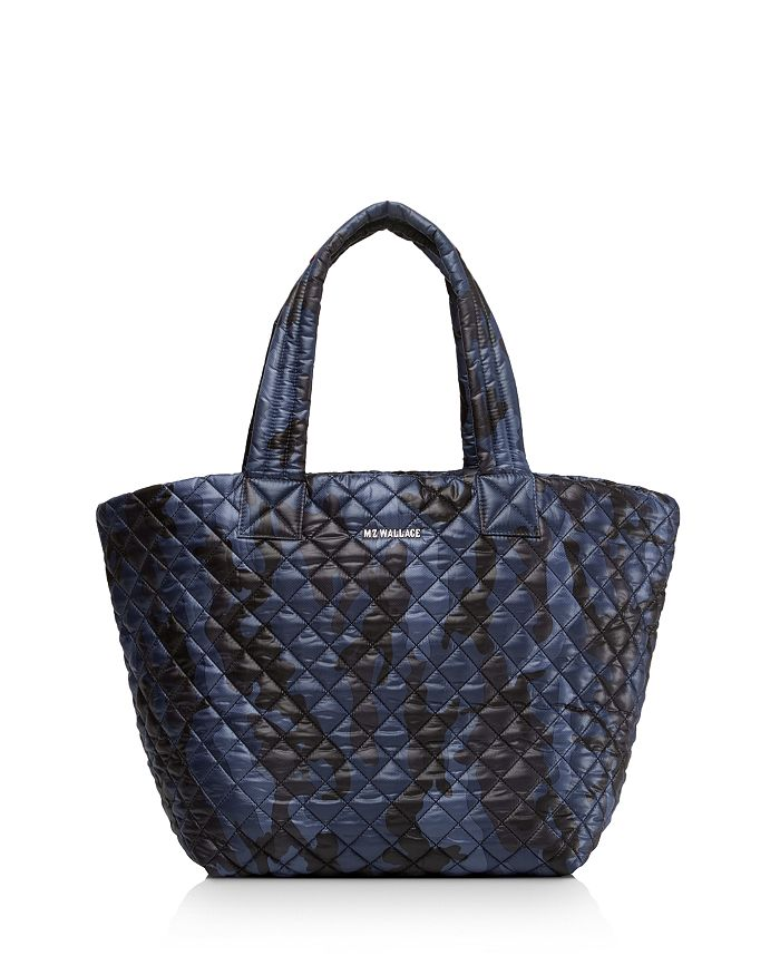 MZ WALLACE - Metro Medium Dark Blue Camo Tote