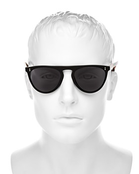 Burberry - Vintage Check Flat Top Sunglasses, 60mm