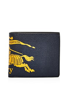 Burberry - Crest Leather Bi-Fold Wallet