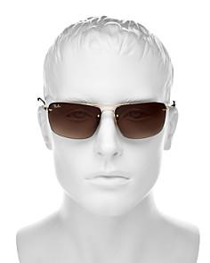 Ray-Ban - Men's Semi-Rimless Square Sunglasses, 63mm