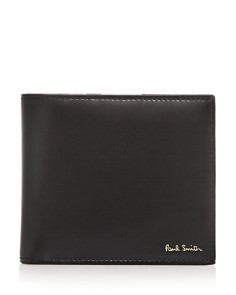 Paul Smith - Camera-Print Leather B-Fold Wallet