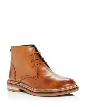 PENGUIN Men'S Myles Leather Chukka Boots in Cognac