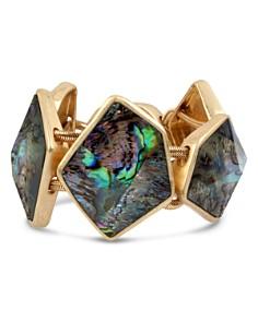 Robert Lee Morris Soho - Geometric Abalone Stone Bracelet