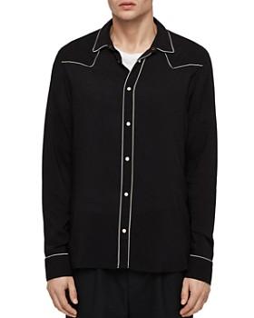 ALLSAINTS - Nero Slim Fit Western Button-Down Shirt