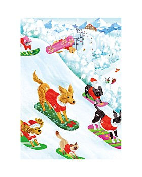 Caspari - Off Leash Christmas Cards, Box of 16