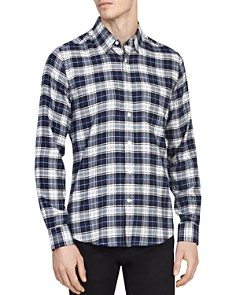 REISS - Cooper Checked Regular Fit Button-Down Shirt