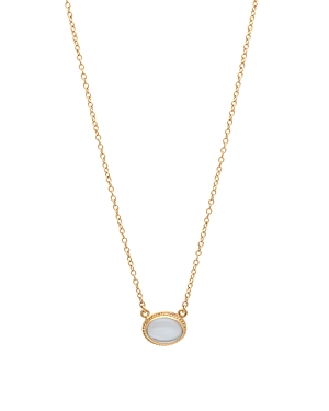 Anna Beck Mother of Pearl Oval Pendant Necklace in 18K Gold-Plated Sterling Silver, 16