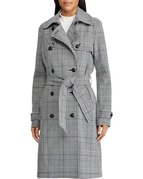8dd3695c5bbc50 Ralph Lauren - Glen Plaid Trench Coat ...