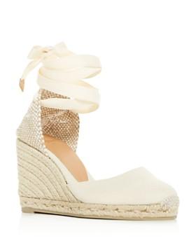 2f40b35546f Castañer - Women s Carina Ankle-Tie Wedge Espadrille Sandals ...
