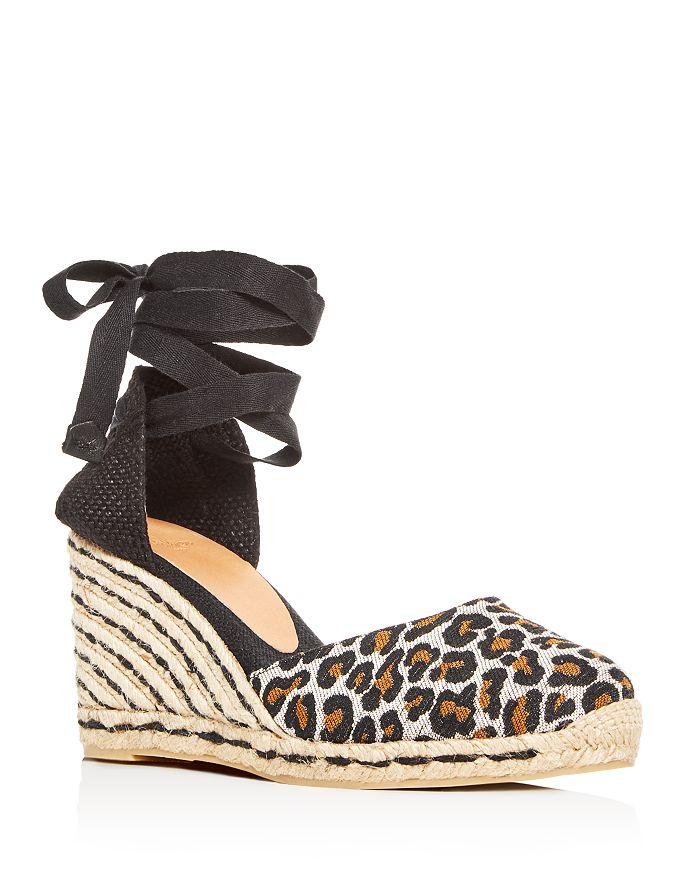 ad9b4a8c37b Castañer Women S Carina Ankle Tie Platform Wedge Espadrille Sandals